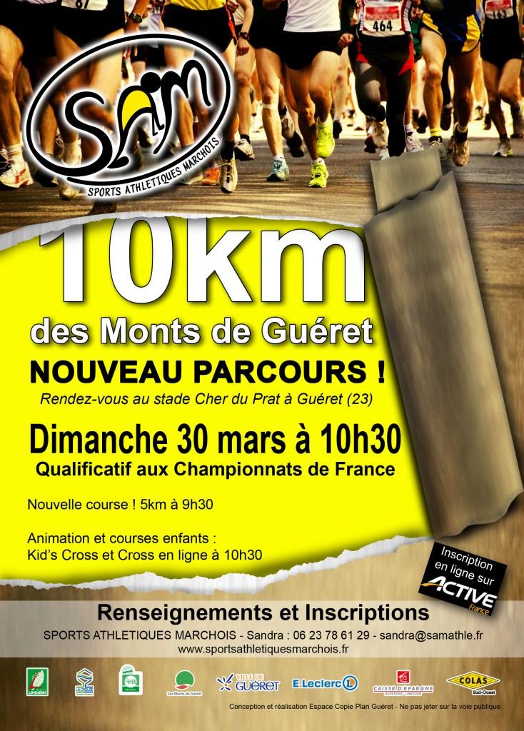 Affiche de la course des 10 km des Monts de Guéret